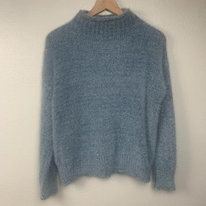 RACHEL ZOE ICE BLUE FUNNY SWEATER